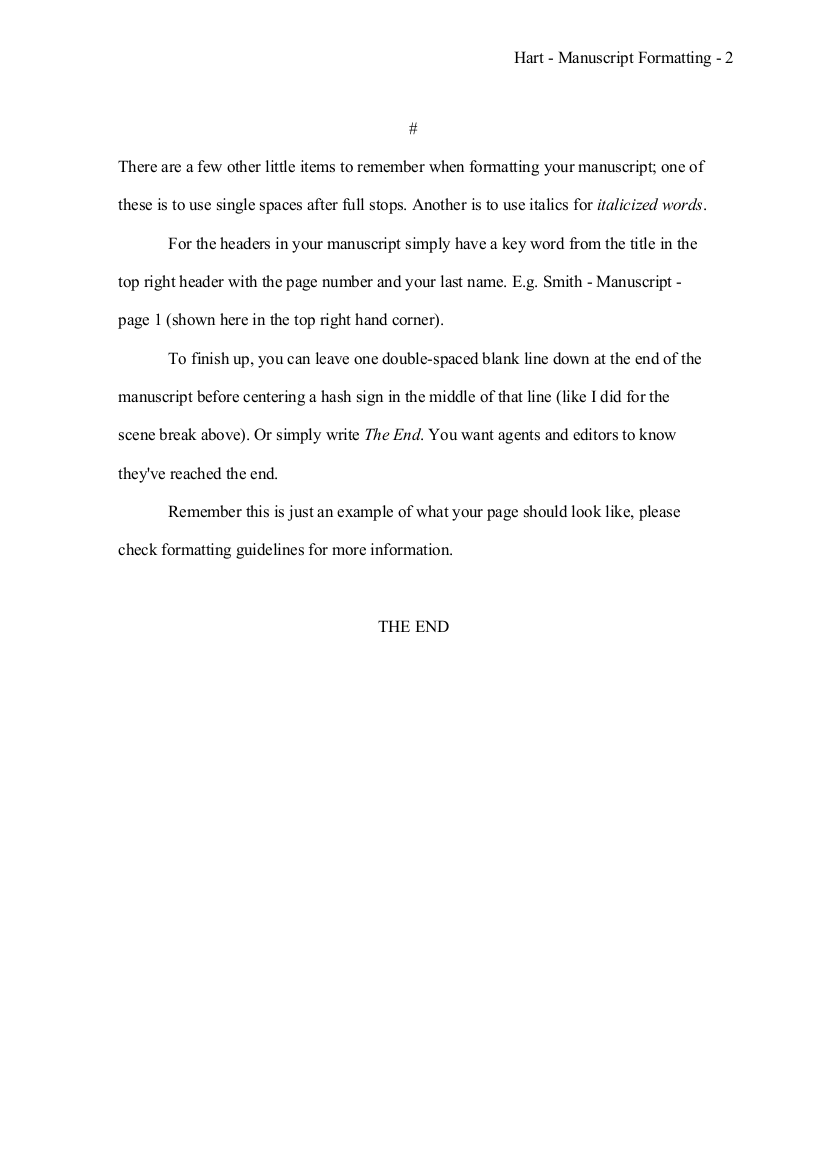 a well formatted novel manuscript page 3